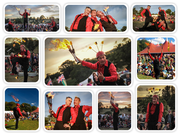Fire juggler - Thomas Trilby for Fire and Glow show fire entertainer for events
