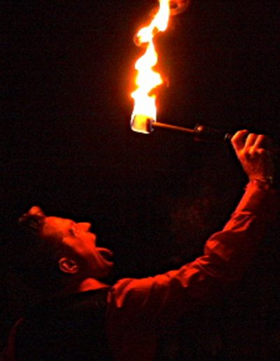 Fire performer for hire