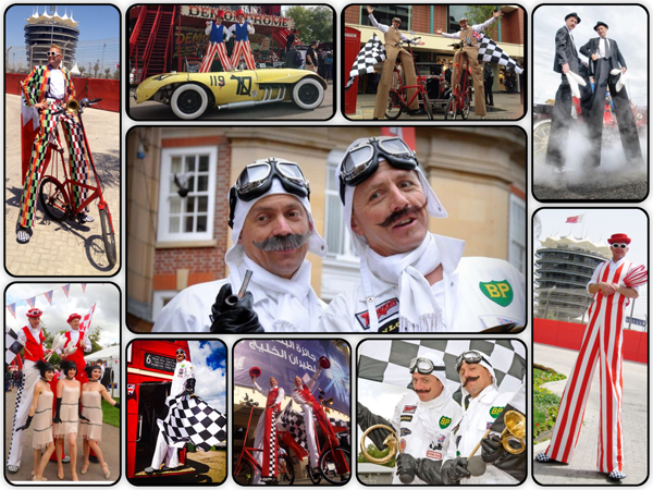 Motor Racing entertainers - Contact Me for entertainment for sporting events