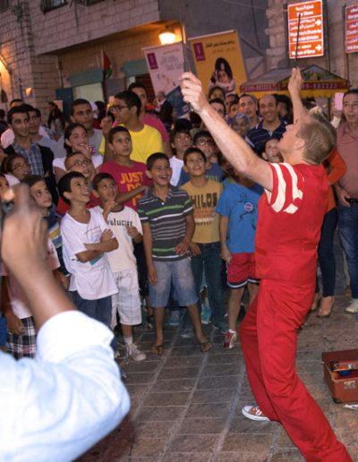 Street theatre in Palestine