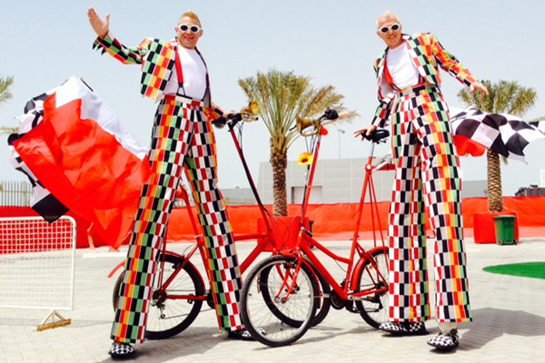 bicycle-themed entertainment for events