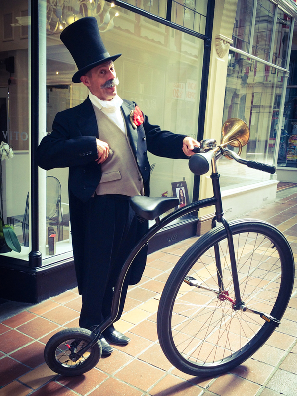 Bicycle-themed entertainment for events - penny farthing