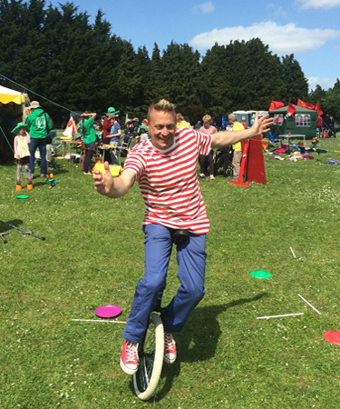 Unicycle rider - unicycling workshop - circus skills