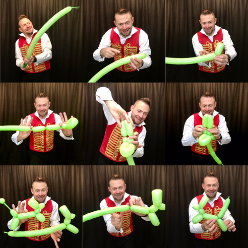 Thomas Trilby online shows circus skills performer